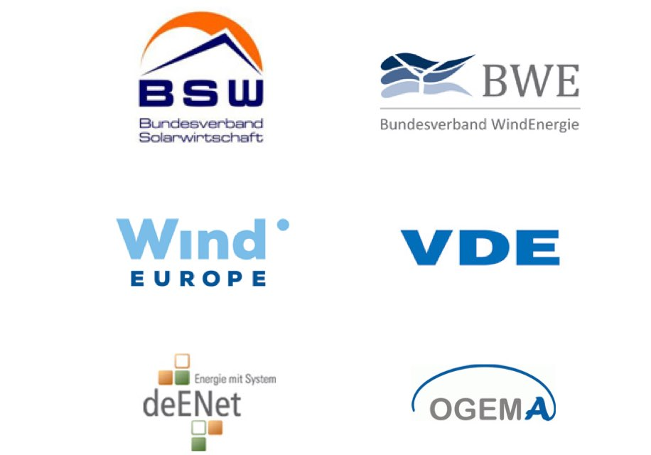 Logos of various renewable energy associations
