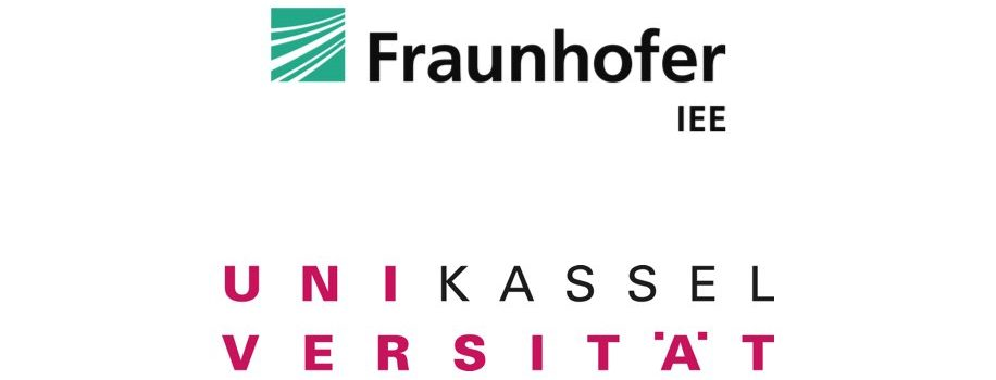 Logos of Fraunhofer IEE (formerly Fraunhofer IWES) and Kassel University