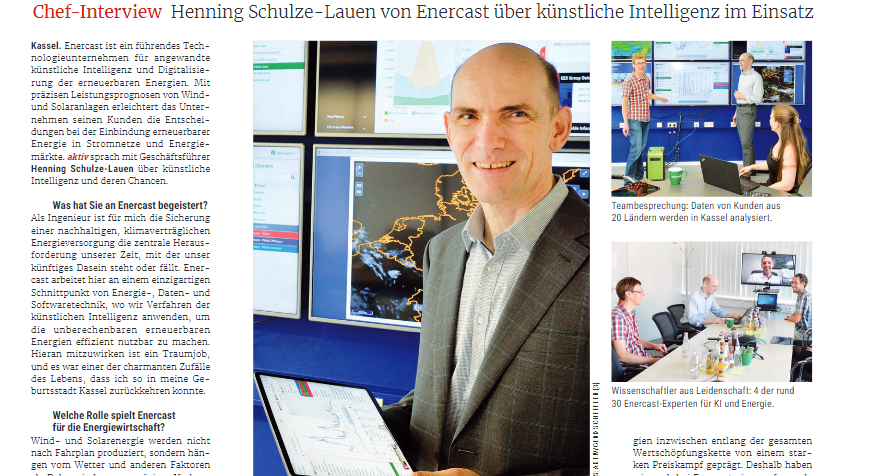 Dr. Henning Schulze-Lauen, CEO at enercast